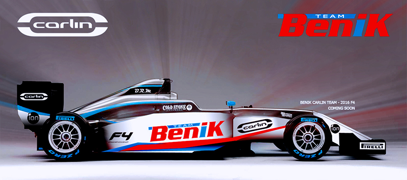 BENIK ANNOUNCES LAUNCH OF US FIA FORMULA 4 TEAM